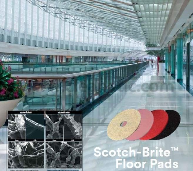 แผ่นขัดพื้น 3M Scotch-Brite